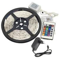 Tira LED 5M 300 3528 SMD RGB Control Remoto Impermeable Decoracion Luz de T Q3S7