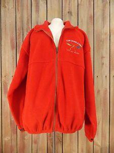 Flint River Camp Fleece Jacket Klotz Lake Ontario by Kobe Full Zip Men's Red L