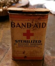 Vintage Band Aid Tin Metal Box Bandages Johnson & Johnson USA