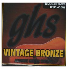 GHS VN-B Vintage Bronze acoustic guitar strings, Bluegrass .012-.056