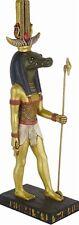 Sobek Crocodile Egyptian God of Nile Water Statue 10H E-339GP