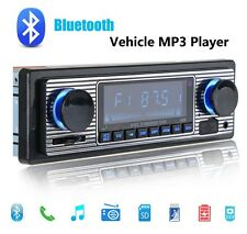 Vintage Style Car Bluetooth Radio Car Stereos  AUX USB SD MP3 Single DIN from DE