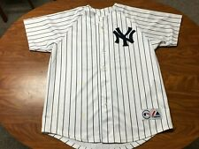 MENS MAJESTIC NEW YORK YANKEES JASON GIAMBI BUTTON UP BASEBALL JERSEY SIZE L/XL