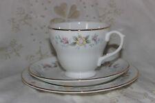 Mayfair Alpine blue fleurs Trio Tea Cup soucoupe plate