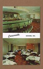 "Elkhorn,WI Wisconsin Crossroads Restaurant,""green"" Bar/Dining rooms shown"