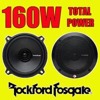 ROCKFORD FOSGATE 2WAY 5.25 INCH 13cm CAR DOOR/SHELF COAXIAL SPEAKERS 160W TOTAL