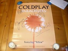 """COLDPLAY 18X24"""" PROMO POSTER SIGNED AUTOGRAPHED BY ALL 4 MEMBERS CHRIS MARTIN #2"""