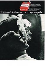 Publicité advertising  1969   WINSTON  cigarettes