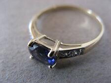 Zierlicher Ceylon-Iolith-Zirkon Ring RW: 18 in 375er Gold mit Zertifikat!
