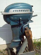 Vintage 1950s 25 hp EVINRUDE Big Twin OUTBOARD  MOTOR ENGINE boat marine