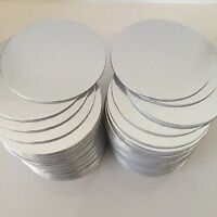 "CAKE CARDS 20 X 4"" Inch ROUND thin Cut Edge Cake Boards Sugarcraft SILVER"