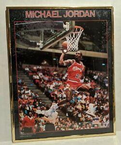 "Vintage Original 1988 Starline Michael Jordan NBA Gold Framed Poster 16"" x 20"""