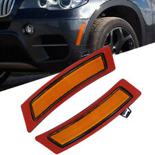 Amber Front Bumper Reflector Side Marker Lights For 2011-2013 BMW E70 X5 Pair