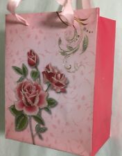 PAPER VALENTINES Glittered Flower CHRISTMAS BIRTHDAY WEDDING PARTY LOOT Gift BAG