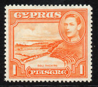 Cyprus 1 Piastres Stamp c1938-51 Mounted Mint Hinged (4165)
