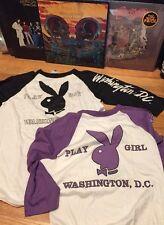 Lot 2 Vintage 70s PLAY BOY PLAY GIRL WASHINGTON D.C. 50/50% Paper Thin T Shirt.