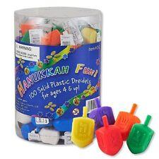Medium Plastic Chanukah Dreidels - Assorted Colors