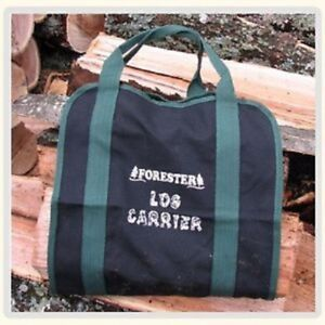 "Firewood Log carrier Canvas Double Stitched Heavy duty Firewood Bag Tote 15""X32"""