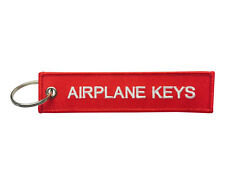Airplane Keys Embroidered Keyring / Luggage Tag / Free UK Delivery /