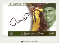 2002-03 ESP ACB Cricket Limited Edition Box Set Signature Card Matthew Hayden