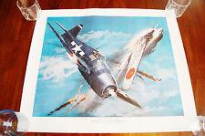 1986 Fabled Fifteen Grumman F6F Hellcat Print Com. David McCampbell