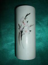 alte Retsch Wunsiedel Bavaria kleine Tischvase Porzellan Vase weiß Blumendekor