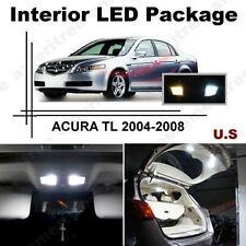 White LED Lights Interior Package Kit for ACURA TSX 2004-2008 ( 10 Pcs )