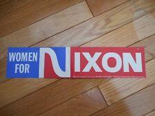Women For Nixon Bumper Sticker Presidential Campaign Sticker Decal Richard Nixon