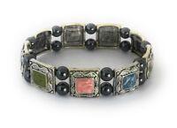 Magnetic Bracelet Hematite Bead Enamel Multi-Color Stretch Healing Therapy Stone
