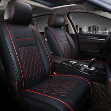 Coprisedili per Auto Anteriori Universali Pelle Impermeab Indossare nere e rosso