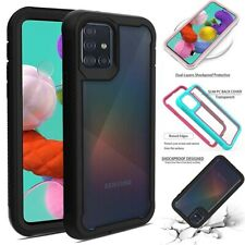 For Samsung Galaxy A20S/A51/A71 Shockproof Rugged Clear Back Phone Case Cover