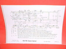 1964 1965 CHRYSLER IMPERIAL CONVERTIBLE CROWN LEBARON FRAME DIMENSION CHART