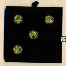 2013 Set of 5 'O Canada Series' Prf $5 Fine Gold Coins  in Large Case(13158)OOAK