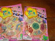 Pair of bead craft lacing fun NEW children's girls plastic bead kit shell assort
