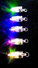 FLASHING UNDERWATER FISHING LURE LED LIGHTS - 5 PACK - MULTI COLOUR