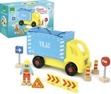 Vilac 2347 Camion Porte Container et accessoires de chantier