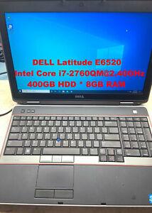 """*DELL Latitude E6520_Intel Core i7-2760QM@2.40GHz_400GB HDD_8GB RAM_15.6""""Screen*"""