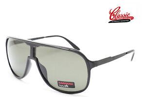 Carrera New Safari GVB QT Shiny Black Frame with Green Lens Mens Sunglasses