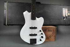 2005 Mike Lipe Custom Order Love Guns Guitars Snow White Bass Guitar