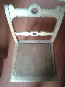 stuhl antik holz