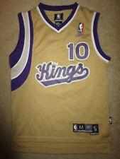 Mike Bibby #10 Sacramento Kings NBA Gold Version Reebok Jersey Youth M 10-12