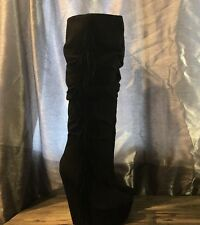 Dereon Wedge Heel Knee High Pull On Women's Size US 9