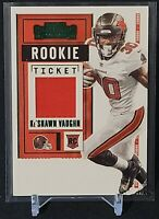 2020 Panini Contenders Ke'Shawn Vaughn Rookie Ticket Jersey Patch Green #RTS-KSV