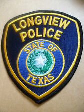 Patches: STATE OF TEXAS LONGVIEW US POLICE PATCH (NEW. apx. 12x10.5 cm)