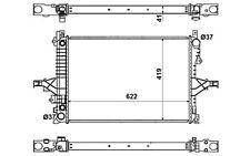 NRF Radiador, refrigeración del motor VOLVO C70 S60 V70 S80 940 53532
