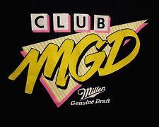 MILLER GENUINE DRAFT beer T shirt MGD dayglo 1980s logo XL tee Philadelphia Penn