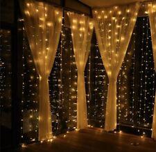 Fairy Lights 300 LED Window Curtain String Light Wedding Party , Christmas 12 Mo