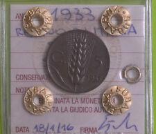 REGNO D' ITALIA SPIGA 5 CENT 1933 sigillato qFDC NUMISMATICA SUBALPINA