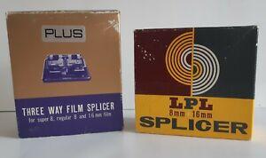 Film Splicer Bundle. LPL Splicer And Plus 3 Way Film Splicer 8mm 16mm Super 8