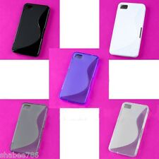 Lot 5 Colorful Rubberized Back Skin TPU S Wave Hard Cover Case Blackberry Z10